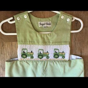 One Pieces - Green Tractor Jon Jon